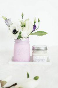 Selbstgemachte DIY Mason Jar Vasen