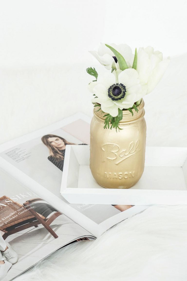 DIY Mason Jar Vasen selbstgemacht 3