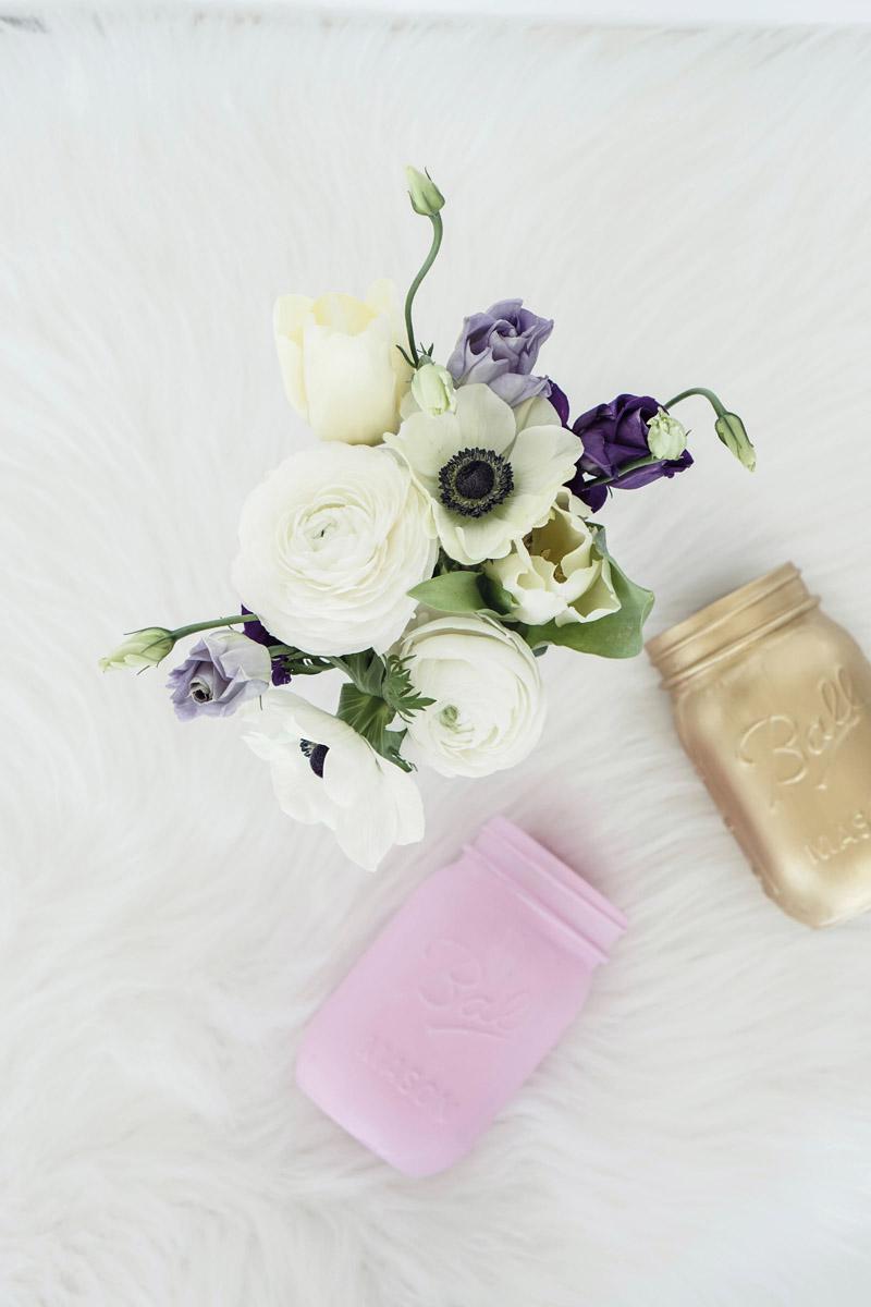 DIY Mason Jar Vasen selbstgemacht