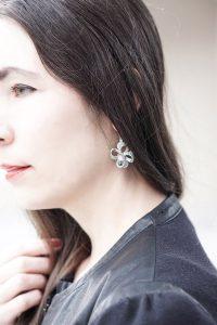 XXL Earrings zum Plisseerock und zr Lederjacke 7