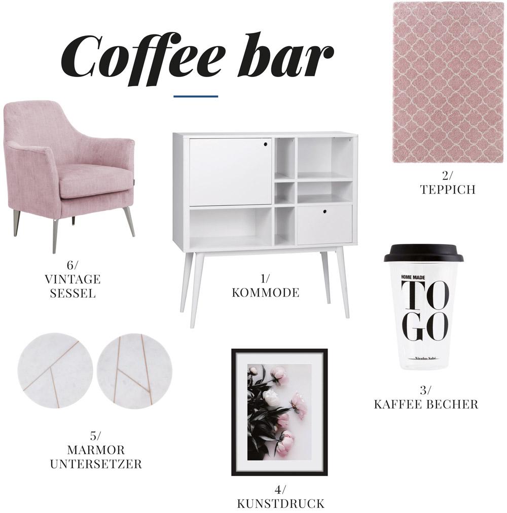 Einrichtung Kaffeebar