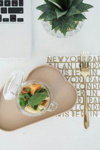 Essen ins Buero mitnehmen – Nudelsalat im Glas mit Suesskartoffeln und Spargel 1