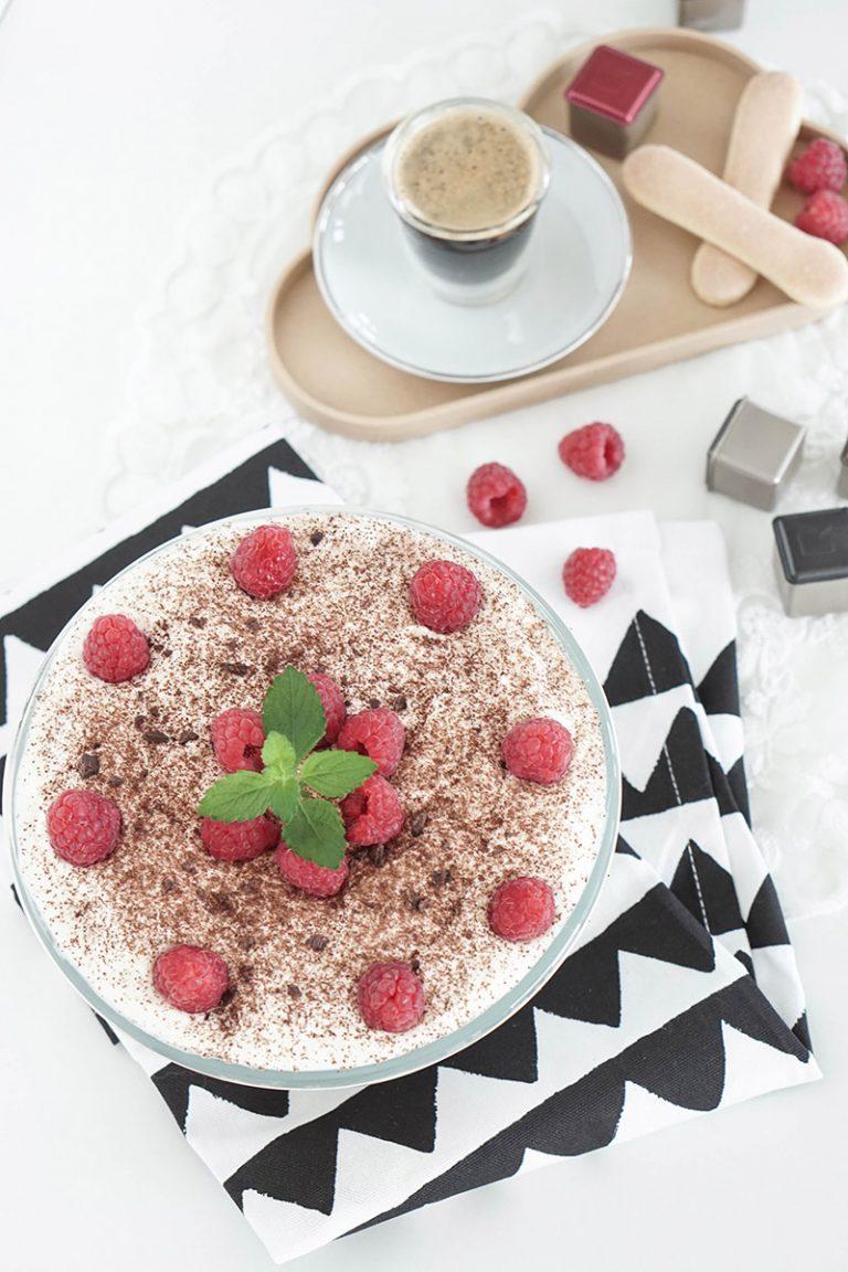Mein Rezept fuer den Sommer – Leichtes Tiramisu mit Himbeeren
