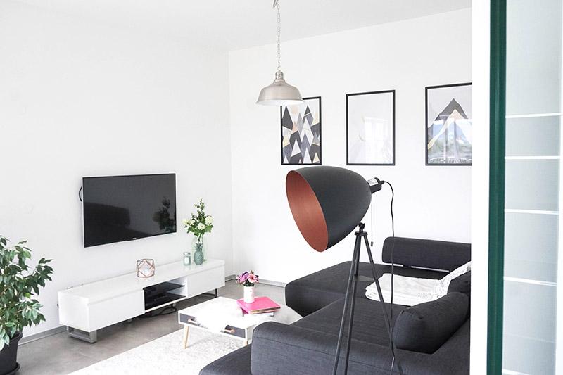 Wohnen in schwarz weiß und passende Dekotipps