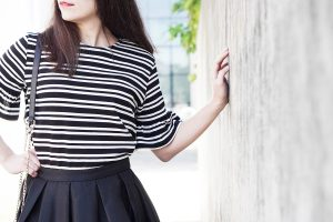 How to wear vertical stripes – Ein Outfit im klassischen Stil