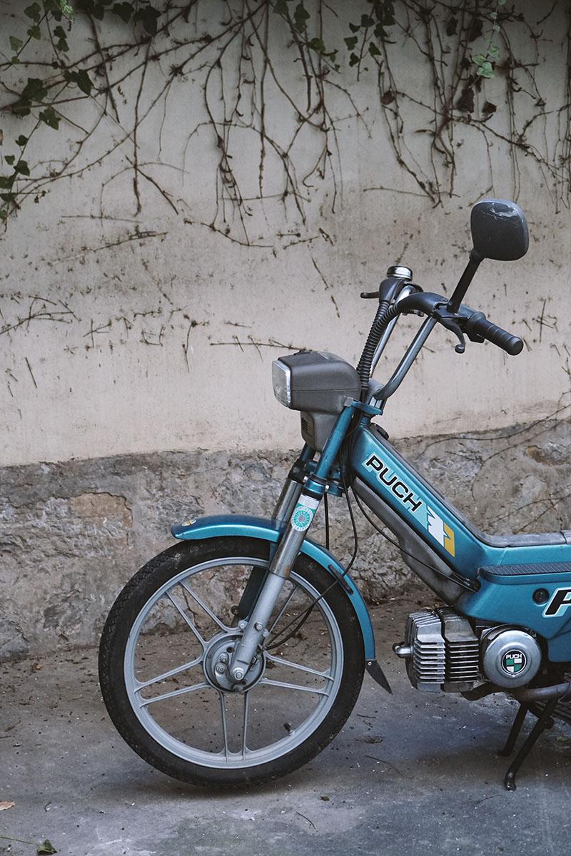Altes Maxi Moped herrichten