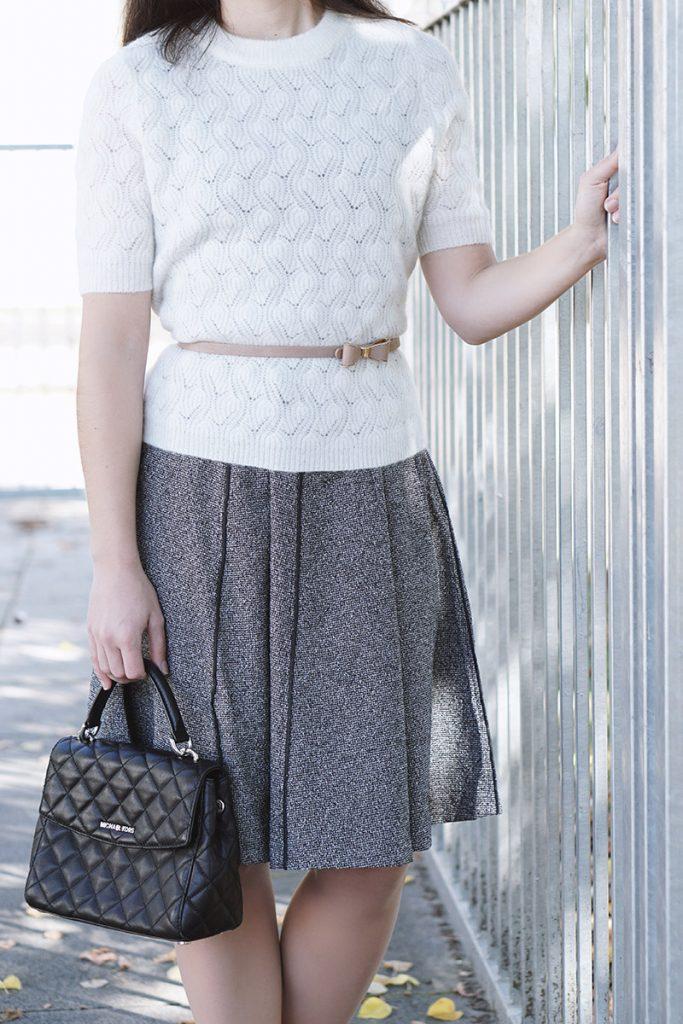 Business Style Blog Herbsttrend Tweed Kleid – So kombinierst du ein Tweedkleid auf zwei verschiedene Arten