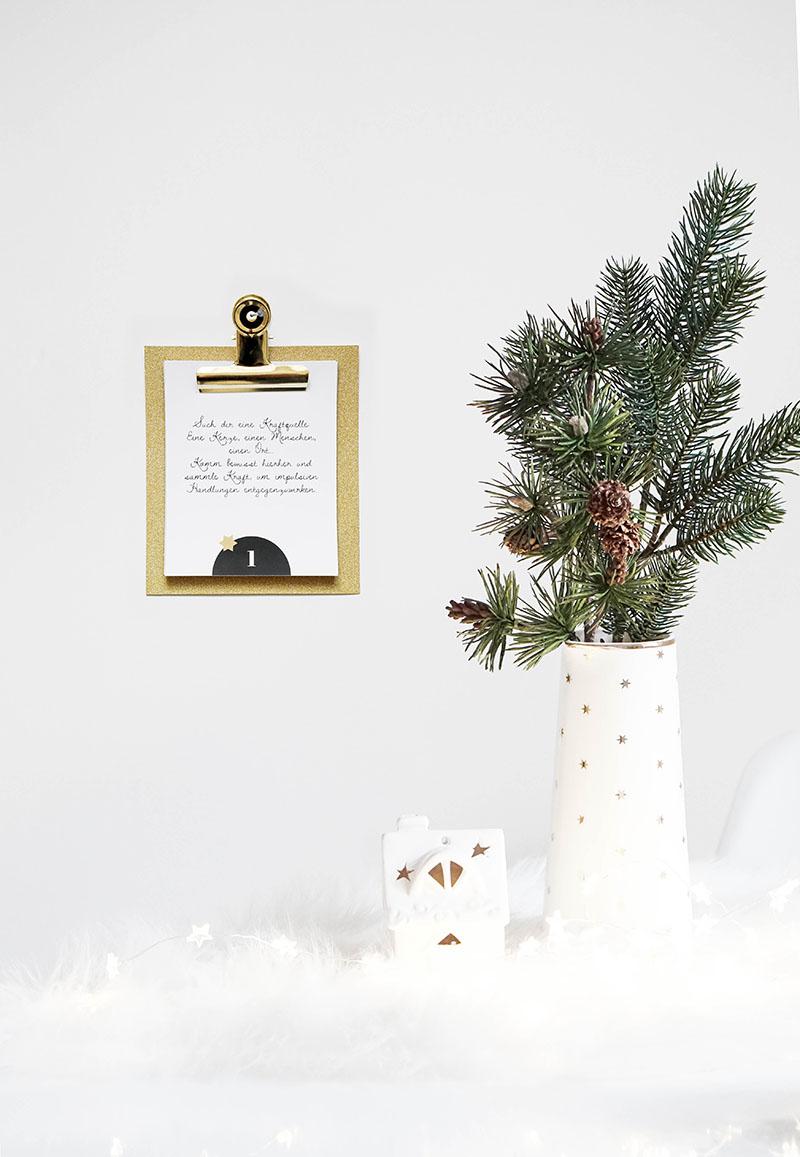 DIY Achtsamkeits Adventkalender selber machen