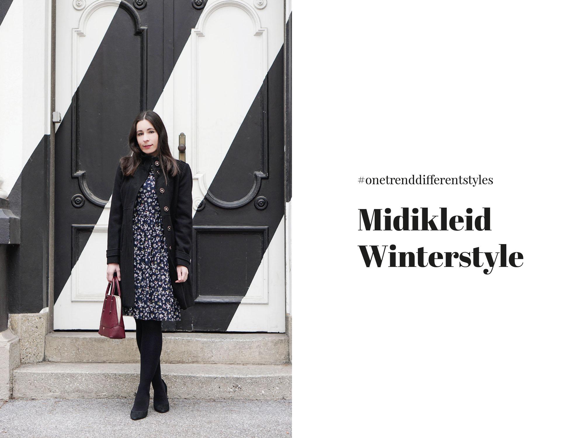 So kannst du dein Midikleid im Winter tragen