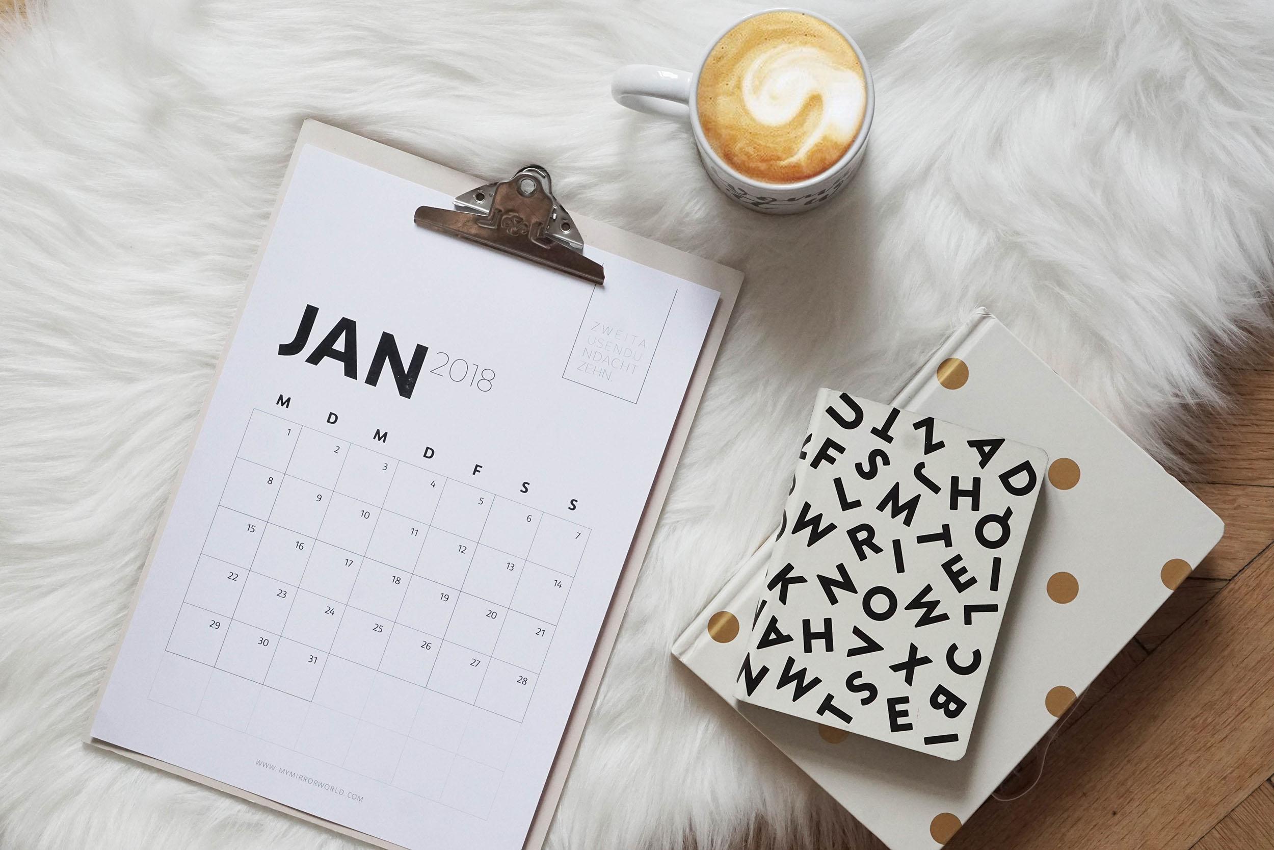 meine kalender 2018 zum ausdrucken f r dich my mirror world. Black Bedroom Furniture Sets. Home Design Ideas