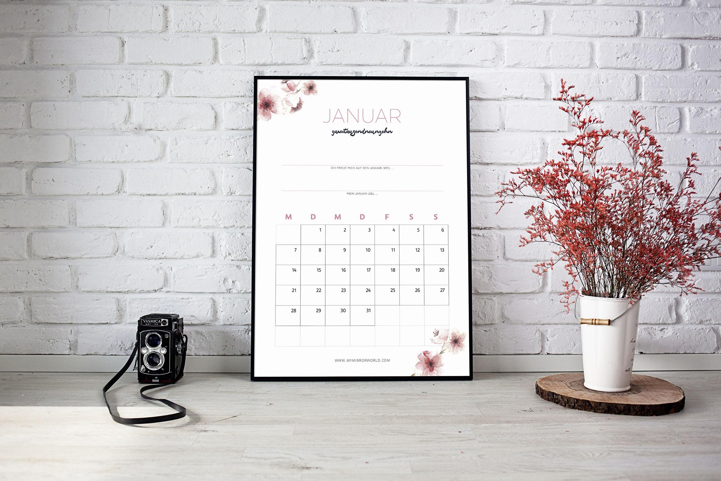 Kalender 2019 Zum Ausdrucken Inkl Anleitung Fur Mehr Achtsamkeit