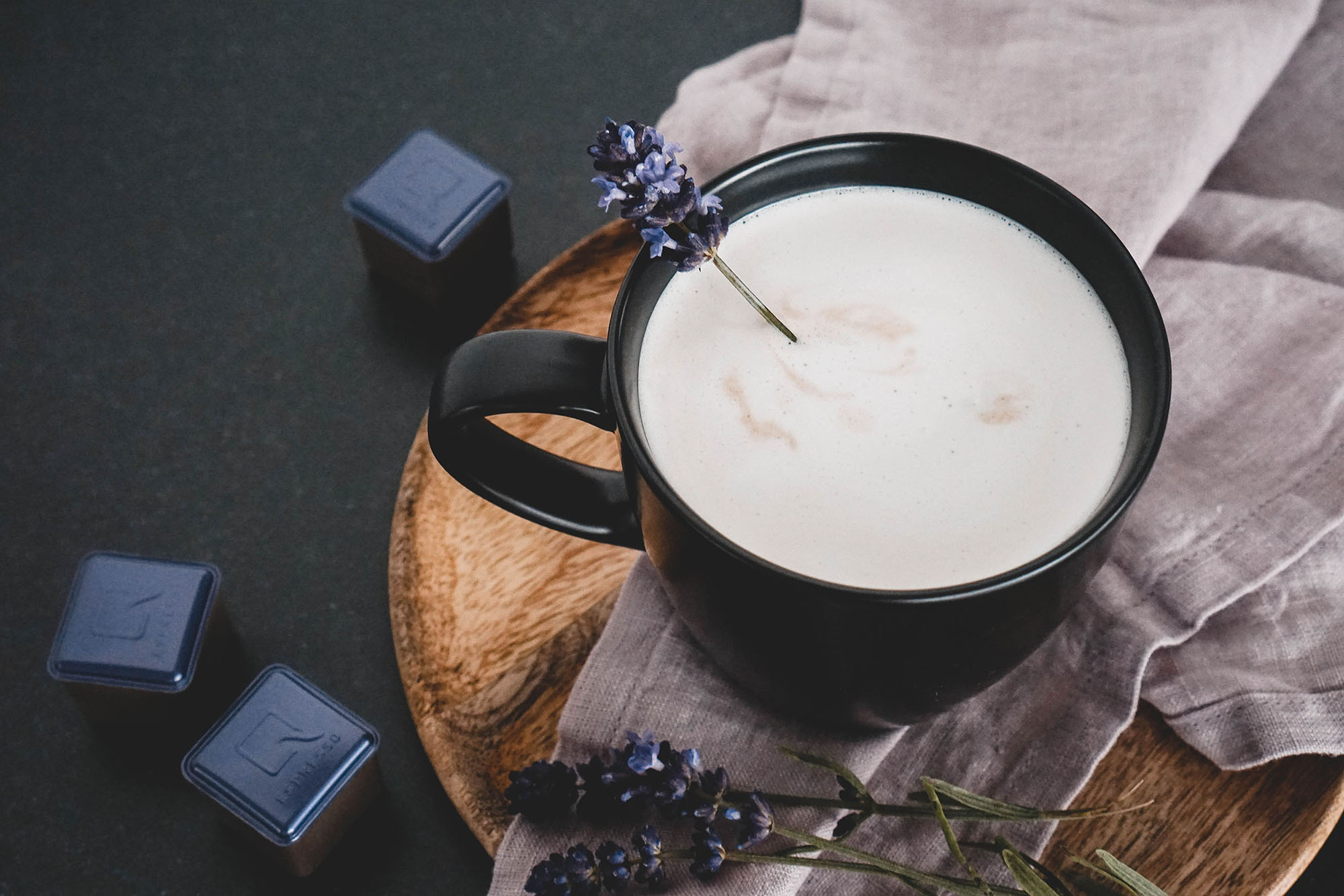 Lavendel Kokos Cappuccino (vegan)