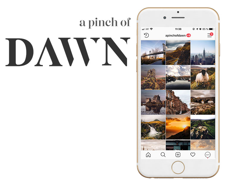 Instagram Foto Account a pinch of dawn