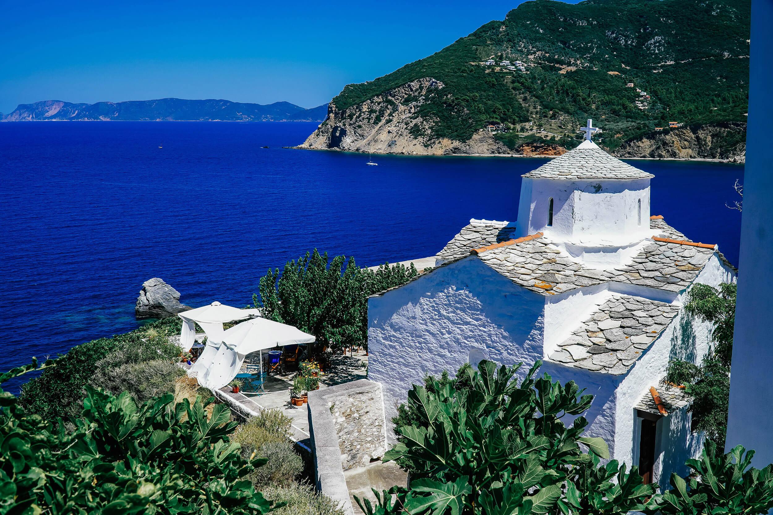 Die griechische Insel Skopelos ist zum Teil noch sehr ursprünglich und unberührt